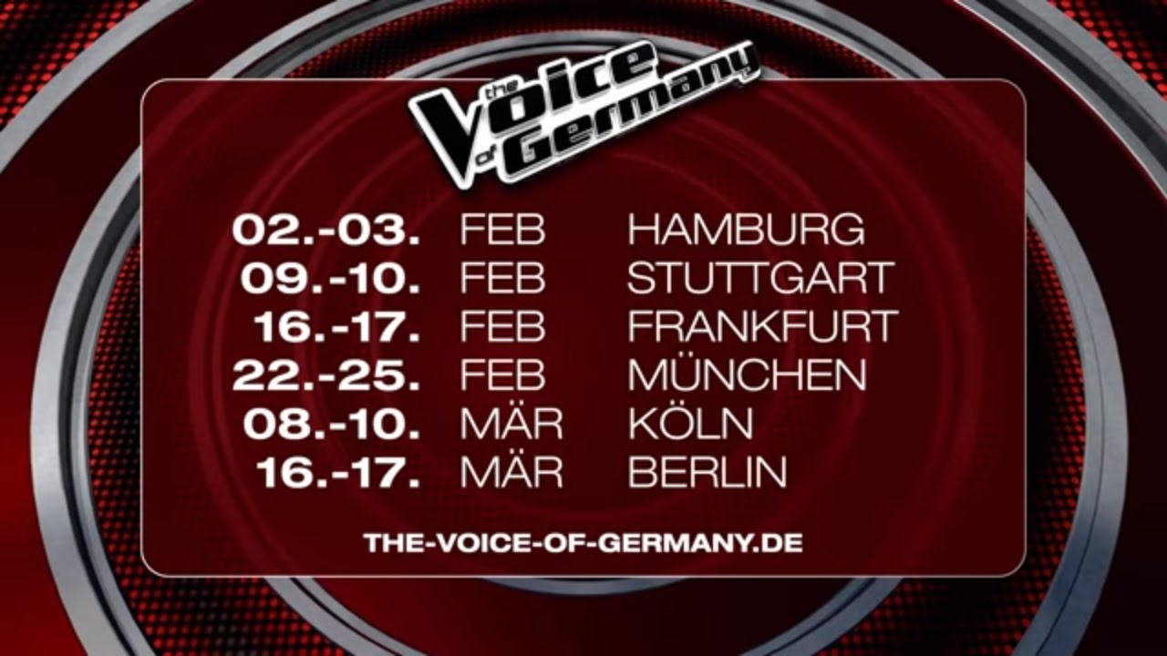 Bewirb dich für The Voice of Germany 2018! | SAT.1 | TV