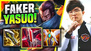 WHEN FAKER PLAYS YASUO IN NORMALS + PENTAKILL! - T1 Faker Plays Yasuo Mid vs Katarina | Preseason 11