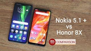 Honor 8X vs Nokia 5.1 Plus: Camera, display and design
