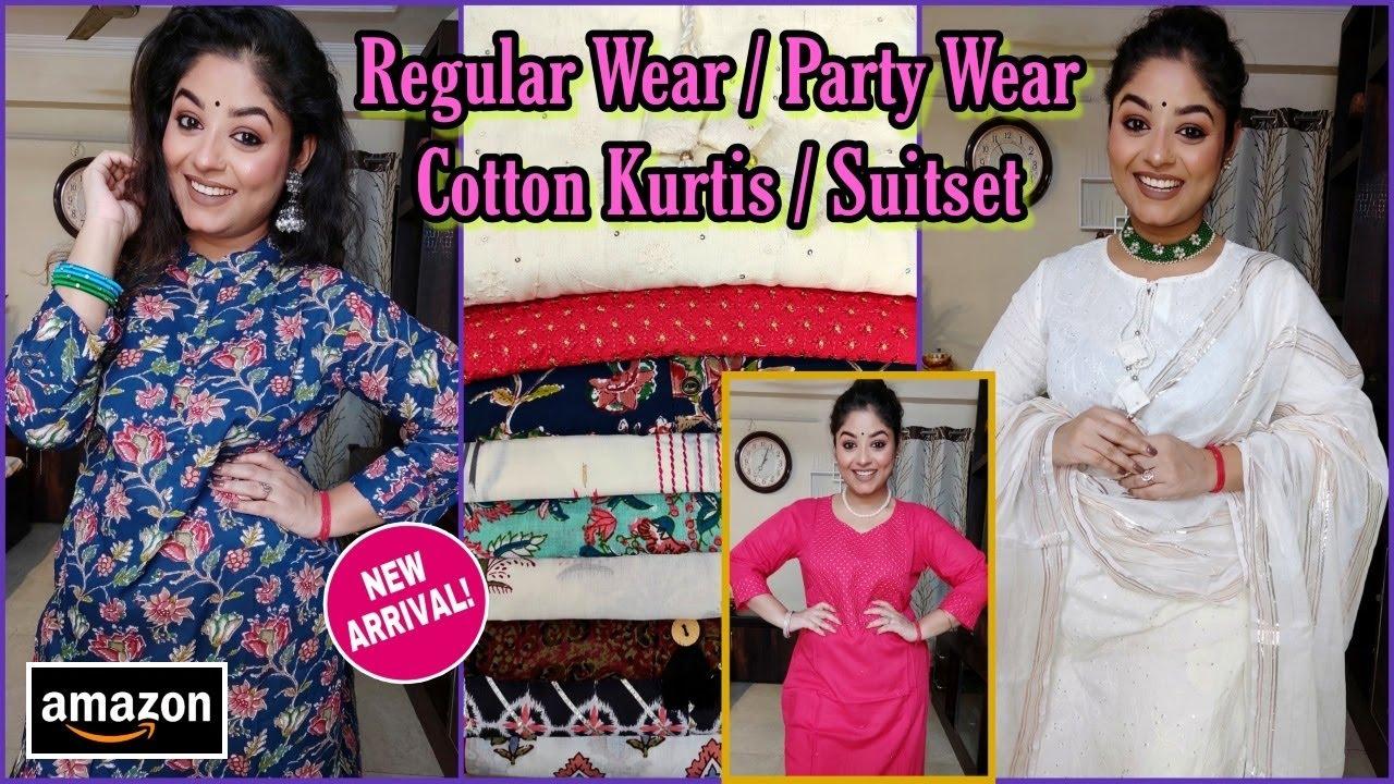 Amazon Kurti Haul💜Best Quality Kurtis for Festival💜Cotton Kurtis &Suit Set💜 Kurti Haul💜Vaishali