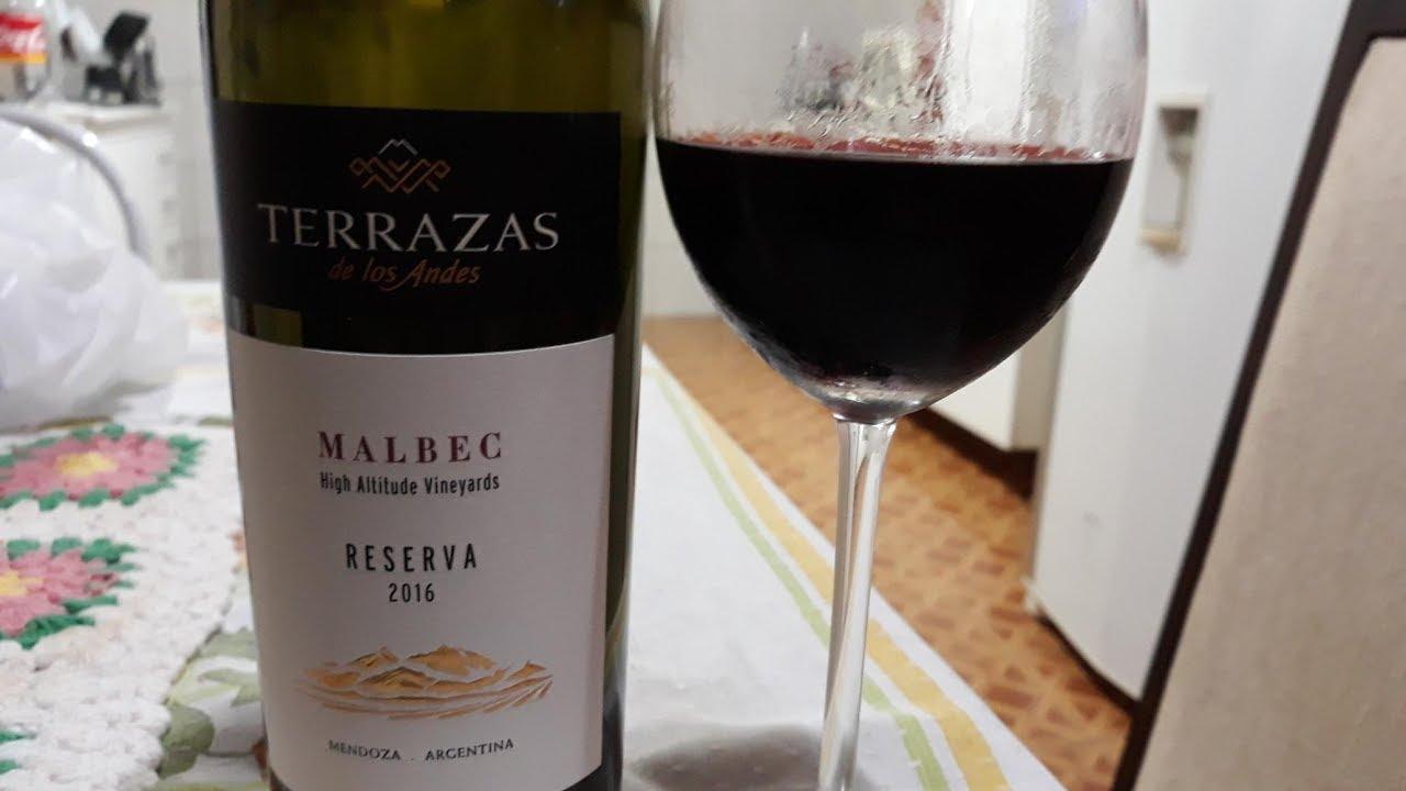 0029 Vinho Terrazas De Los Andes Malbec Reserva 2016 Youtube