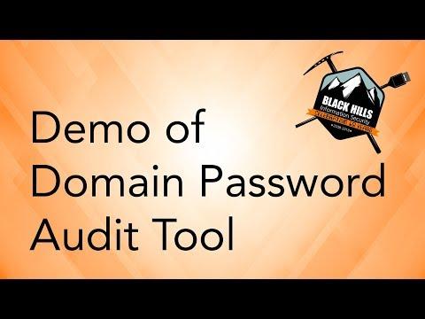 Demo of Domain Password Audit Tool