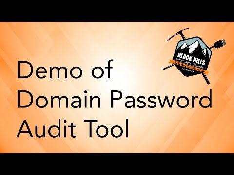 Demo Of Domain Password Audit Tool
