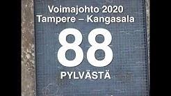 Voimajohto Tampere - Kangasala numeroina