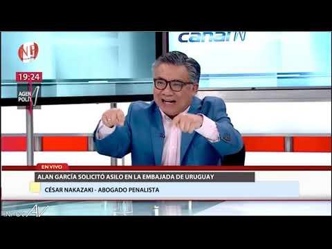 Entrevista en Canal N: Caso Alan García solicita asilo en la embajada de Uruguay