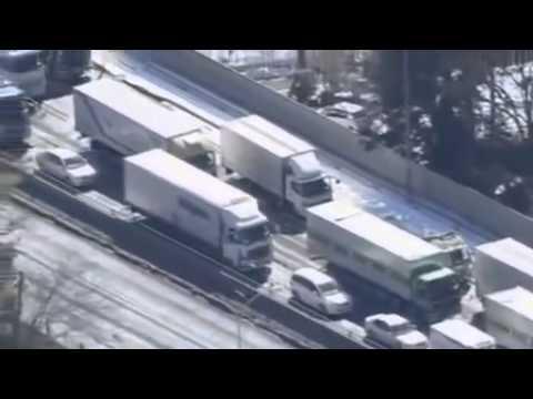 ПОСЛЕДНИЕ НОВОСТИ сильнейший снегопад в Японии, множество пострадавших
