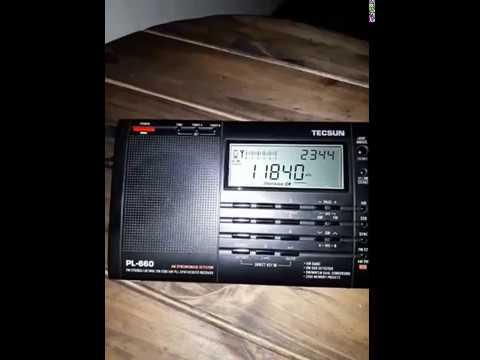 Tecsun PL-660 Radio Habana Cuba 11840 KHZ desde Mendoza (ARG)