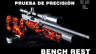 PRUEBAS de PRECISION: Modelo  Bench Rest   BMGUNS