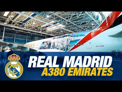 Real Madrid Plane - Emirates A380  | Behind the scenes