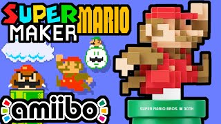Super Mario Maker PART 5 Gameplay Walkthrough (Giant 8-Bit Mario Amiibo, Classic Color CRT) Wii U