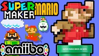 Super Mario Maker PART 5 Gameplay Walkthrough (Giant 8-Bit Mario Amiibo, Classic Color CRT) Wii U