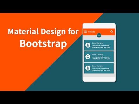 Instalar y configurar Bootstrap con diseño material con Material Design for Bootstrap
