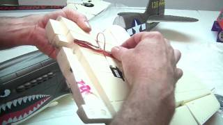 Building the Airfield 1400mm P-40 Warhawk by Jeff Part 1