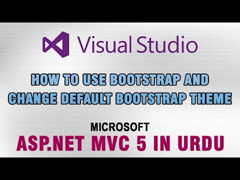 ASP.NET MVC 5 Tutorial In Urdu - How To Use Bootstrap And Change Default Theme