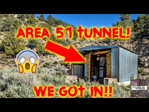 AREA 51 MASSIVE CREEPY TUNNEL!!