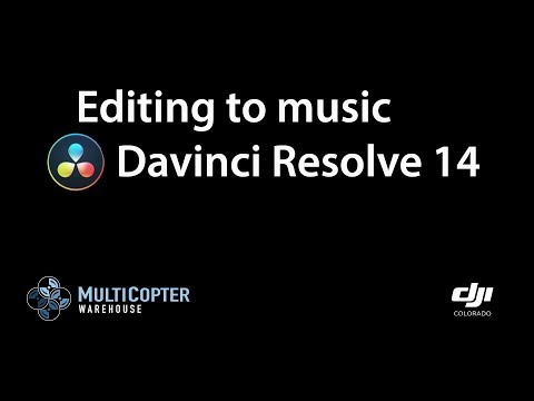 Adding music to your drone s  Davinci Resolve 14