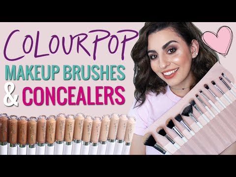 Colourpop Makeup Brushes & Concealers! (Demo & Swatches)