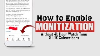 Monetization Enable | Before 1000 Sub & 4000 Watch Hours Urdu\Hindi #Tech4shani