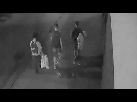 Three teens caught on CCTV helping homeless man in Poland