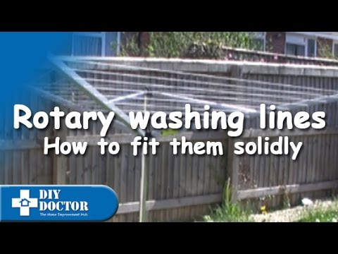 How to put a rotary washing line into the ground properly