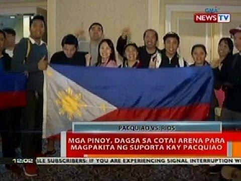 BT: Mga Pinoy, dagsa sa Cotai Arena para magpakita ng suporta kay Pacquiao sa Macau
