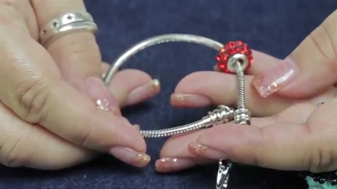 Using The Antique Silver Plated 35mm Snake Chain Bracelet Add A Bead