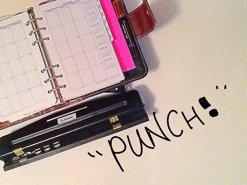 Planner Hole Punch Cheap Hack