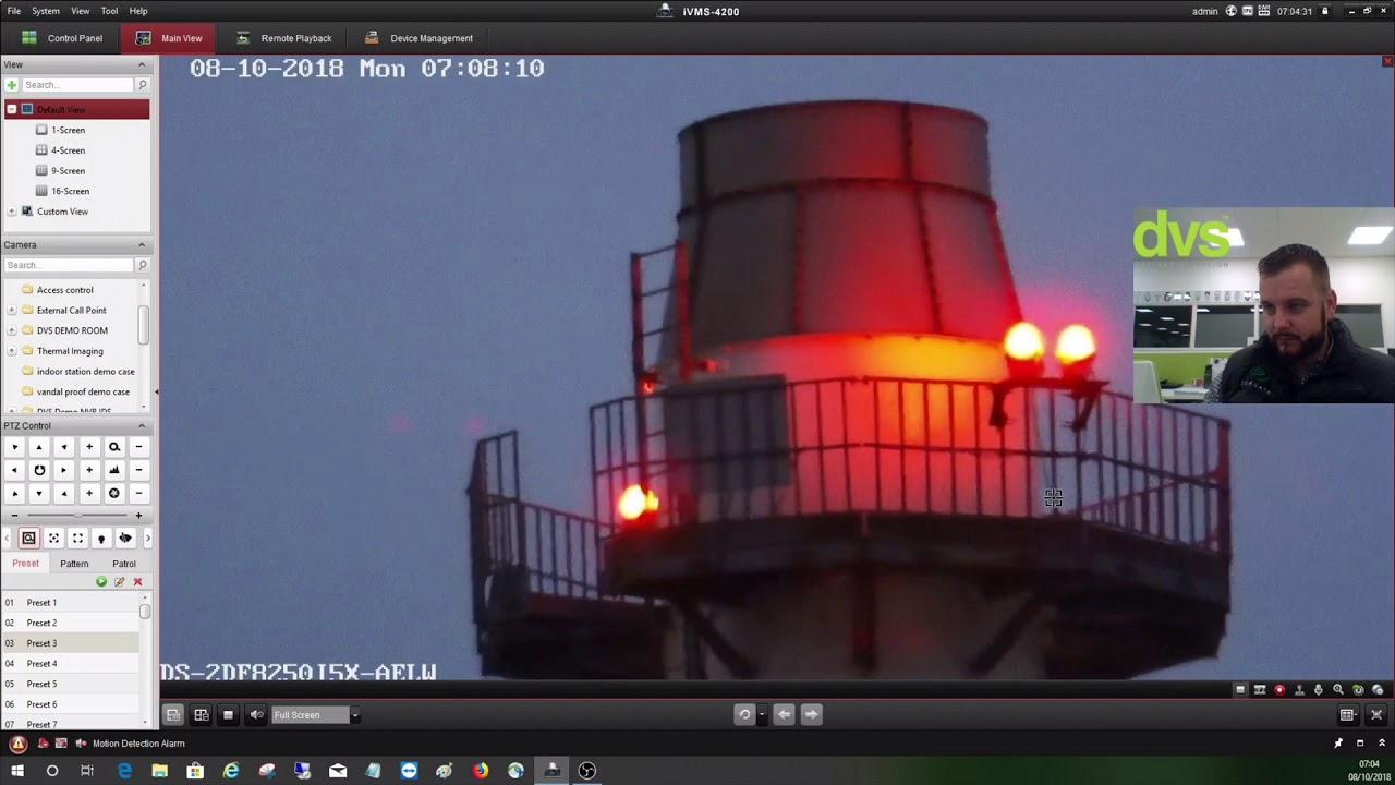 Hikvision Optical Image Stabilisation on a PTZ