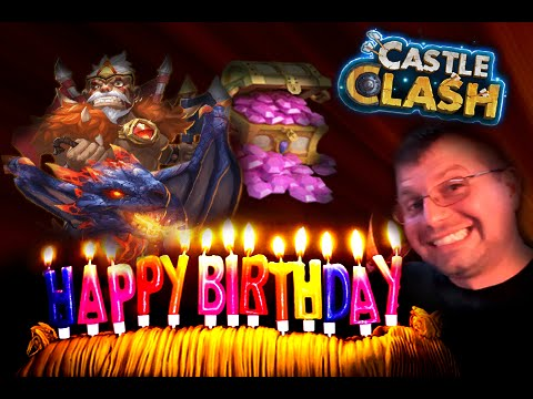 Castle Clash Birthday Live Stream Rolling 75K Gems