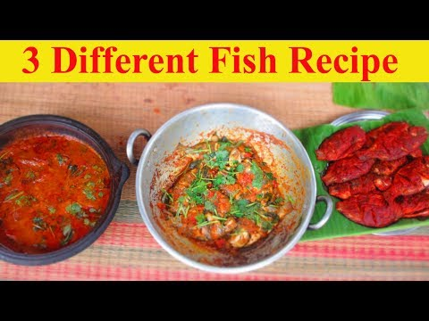 FRESH FISH Cooking 3 Different variety Recipe | VILLAGE FOOD