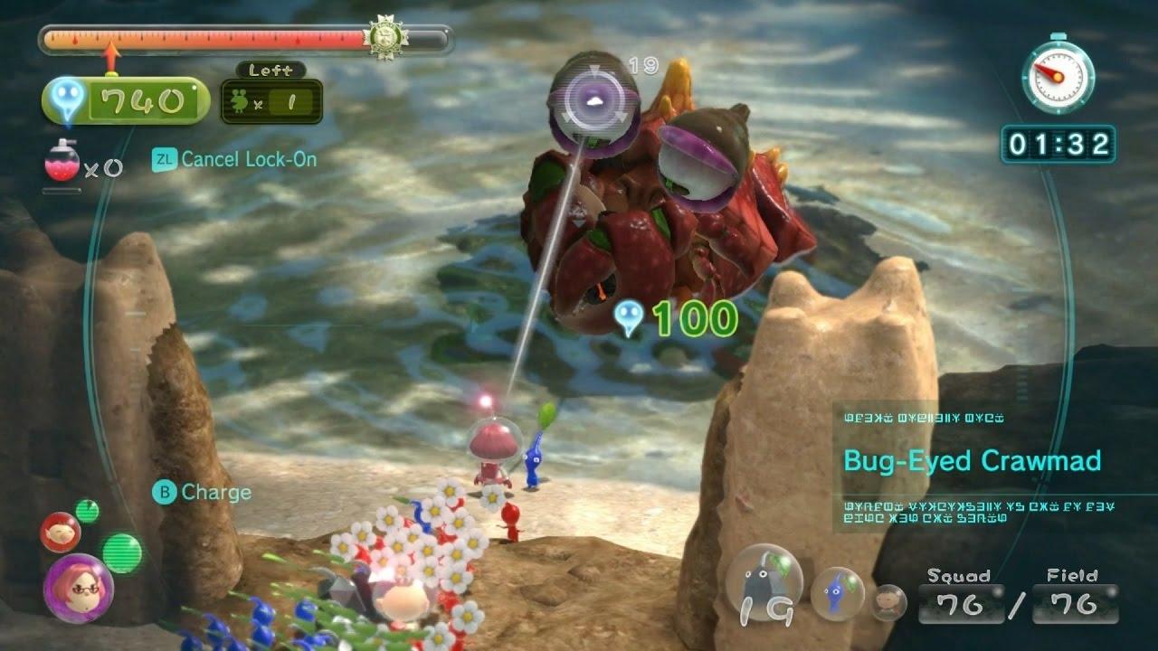 Pikmin 3 Mission Mode Battle Enemies 14 Dlc Forgotten Cove Platinum No Deaths Youtube