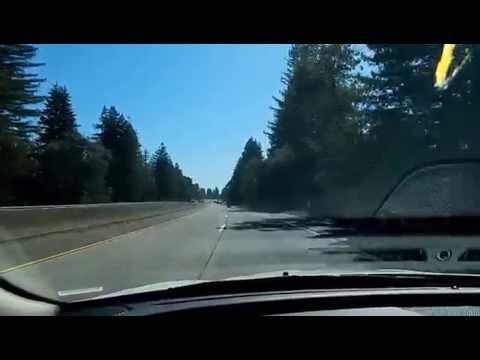 Drive U.S. Route 101 into Healdsburg CA