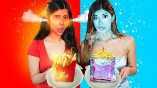BURNING HOT vs FREEZING COLD Food Challenge