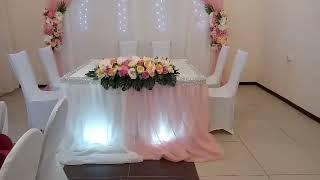 СВАДЬБА на КАРЛА МАРКСА 6. Украшение зала для свадьбы от Компании Праздник