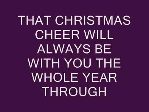 CHRISTMAS CHEER   ROCK VIDEO LYRICS