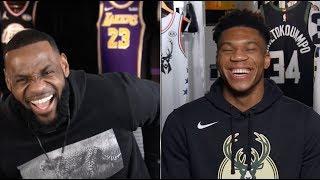 NBA全明星队长选秀全场笑声不断,勒布朗队VS字母哥队!