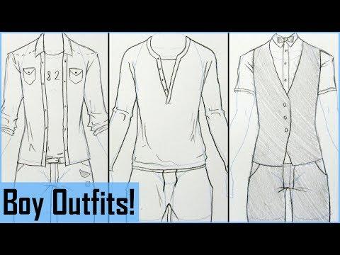 how-to-draw-manga-boy-outfits!