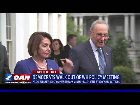 Democrats walk out of White House policy meeting