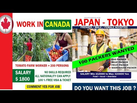 CANADA WORK PERMIT GENUINE GUIDANCE FREE 100%   JAPAN WORK PERMIT