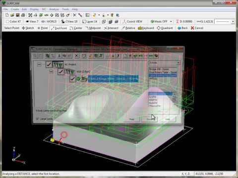 SURFCAM Tutorial - 3-Axis: HSM Z-Rough - Overview