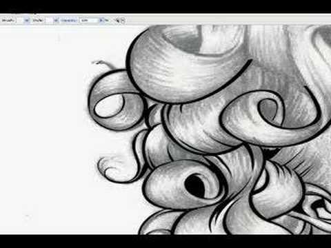Digital Inking Marilyn in Illustrator CS3