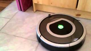 IRobot Roomba 780 tile cleaning and Virtual Wall Demo