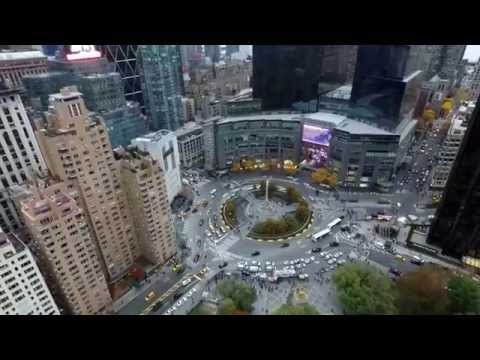 Columbus Circle New York City from DJI Phantom 3 View