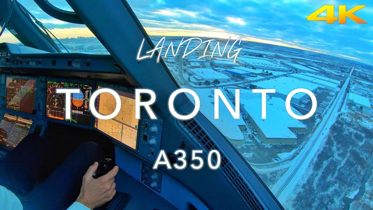 TORONTO | A350 LANDING 4K