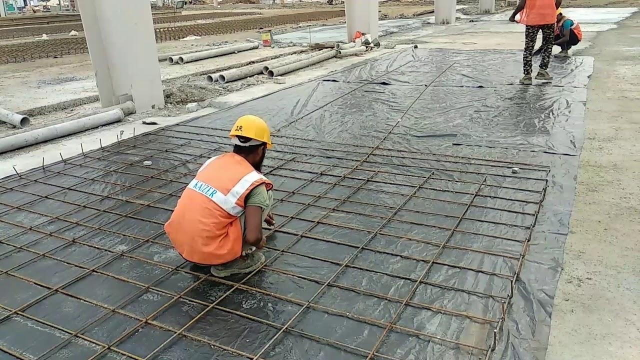 How To Tie Rebar For Slab Floor Site Installat Reinforcement Install