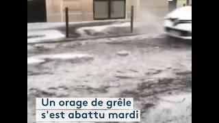 Orages en Île-de-France : la grêle s'abat sur Paris, le métro inondé
