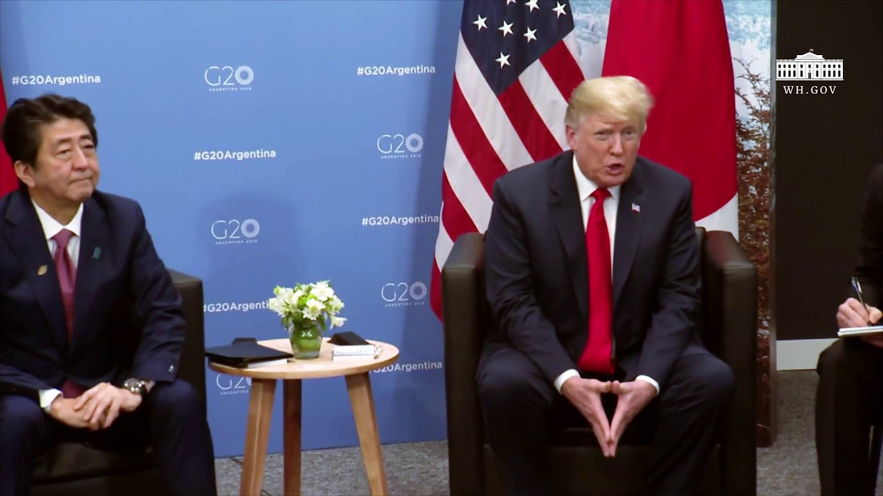 President Trump Participates in a Meeting with the Prime Minister of Japan