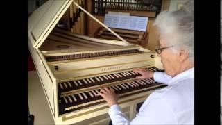 J.S. Bach - Das alte Jahr vergangen ist, BWV 614, Rosalinde Haas, Blanchet harpsichord