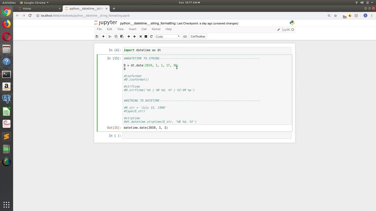 Python Datetime - Formatting Dates