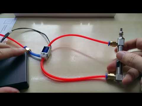 Short demo of Air Cylinder controlled from a tiny Solenoid